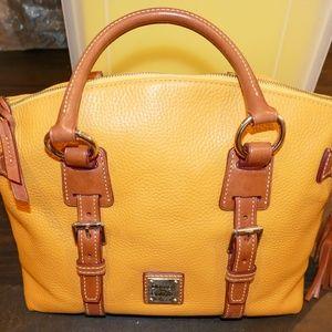 Dooney & Bourke Mustard Leather Satchel